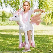 New Ride On Step In Unicorn Kids Deluxe Fancy Dress Dressing Up Costume 3-7