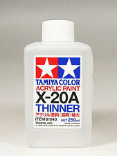 TAMIYA COLOR ACRYLIC X-20A Thinner MODEL KIT PAINT 250ml