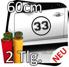 2x 60cm Número Inicial Elegible Libremente Rally Adhesivo Coche Carrera No. 28