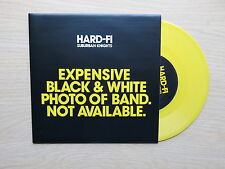 "HARD-FI Suburban Knights UK yellow vinyl 7"" in picture sleeve 2007 Unplayed"
