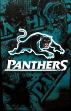 99627 PENRITH PANTHERS NRL NEW 2014 TEAM LOGO 90cm x 150cm CAPE / WALL FLAG