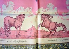 NIB Vintage Beautiful HERMES COURBETTES CABRIOLES Horse steed scarf FRANCE new