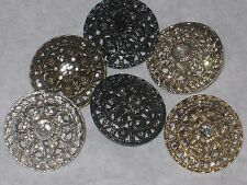 CHANEL CC LOGO FRONT 6 AUTH RHINESTONES GRIPOIX BUTTONS  23 MM lot  6