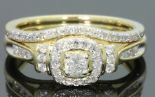 10K YELLOW GOLD .55 CARAT WOMEN DIAMOND ENGAGEMENT RING WEDDING BAND BRIDAL SET
