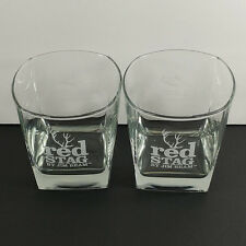Red Stag Jim Beam Square Etched Rocks Glass Red Rocks Park Amphitheatre Colorado
