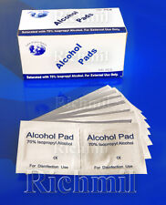 500x 70% Isopropyl Alcohol Swabs Wipes Tattoo Piercing