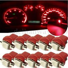 10pcs Red B8.5D T5 Gauge LED Speedo Wedge Dashboard Dash Interior Car Light Bulb