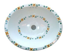 #081 LARGE BATHROOM SINK 21X17 MEXICAN CERAMIC HAND PAINT DROP IN UNDERMOUNT