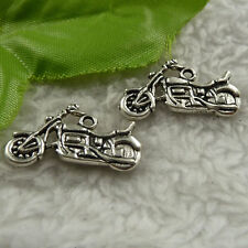 free ship 90 pcs tibet silver motorcycle charms 25x14mm #4279