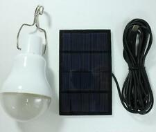 Solar Panel 1W 5V Ball LED Light Bulb Rechargeable Outdoor Garden Camping Lamp