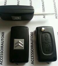 Cle Plip coque telecommande 2 boutons CITROEN C2*C3*pluriel*berlingo*jumpy*C4*C1