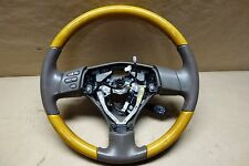 2007 - 2009 Lexus RX350 Tan Leather Wood Grain Steering Wheel Assembly OEM
