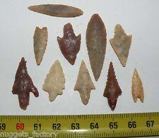 lot de 10 pointes de fleche Neolithique ( Sahara - 095 )