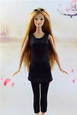 Lovely Fashion Clothes/outfit Black Cotton Sheath Dress For Barbie Doll