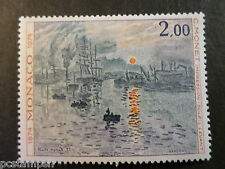 MONACO 1974, timbre 969, TABLEAU MONET, PAINTING, neuf**, VF MNH STAMP