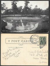1907 Ohio Postcard - Lima - Pond in Faurot Park