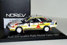 AUDI 200 QUATTRO #4 MONTE CARLO 1987 W. ROERL NOREV 830079 1:43