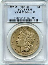 C7238- 1899-O VAM-32 MICRO O TOP 100 MORGAN DOLLAR PCGS VF35