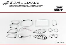 Hyundai Santa Fe 2001 - 2006 Chrome Interior Styling Trim Set
