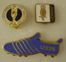 3 x LEEDS UNITED FOOTBALL CLUB Enamel Pin Badges includes BOOT