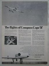 9/1975 PUB TELEDYNE RYAN COMPASS COPE R USAF YQM-98A RPV DRONE ORIGINAL AD