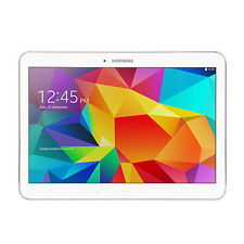 "Samsung Galaxy Tab 4 SM-T530 10.1"" White 16GB Wi-Fi Android Tablet w/ POUCH"
