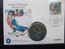 Numisbrief Olympische Winterspiele Albertville 1992
