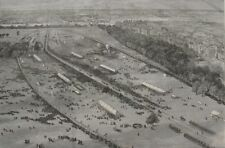 1887 Large Antique Print- Fine Aerial View of Hyde Park - Queen Victoria Jubilee