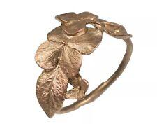 Hydrangea Napkin Rings by Michael Michaud - Silver Seasons - Antique Bronze