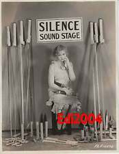 "ESTHER RALSTON Vintage Original LINEN-BK Photo ""SILENCE SOUND STAGE"" Fireworks"
