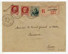 A4833) FRANCE 1942 Reg. C. Grèzieu la Varenne  Lausanne
