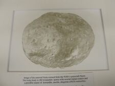 Asteroid Vesta Print made with Howardite meteorite ink.
