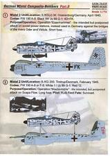 Print Scale Decals 1/72 GERMAN MISTEL COMPOSITE AIRCRAFT Part 2