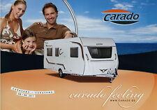 Prospekt D GB 2011 Carado Caravans Caravan Wohnwagen brochure Broschüre
