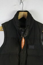 VINTAGE Mens SUPERDRY Jacket ACADEMY GILET Zipper Small PUFFER Quilted RL1UP