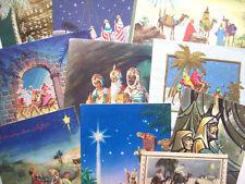 Lot of 10 3 Kings Magi  vintage Christmas greeting card *I