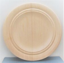 """10"""" UNFINISHED WOOD db ring ROUND PLATE tole paint stencil woodburn carve UNUSED"""