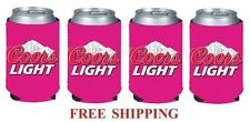 COORS LIGHT MOUNTAINS 4 BEER CAN COOLER COOZIE COOLIE KOOZIE HUGGIE PINK NEW