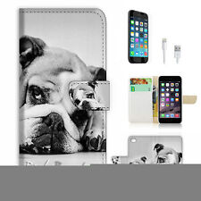 iPhone 6 (4.7') Flip Wallet Case Cover! P1180 Bulldog