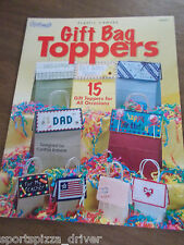 Gift Bag Toppers  Plastic Canvas Leaflet The Needlecraft Shop #844507