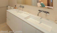 BATHROOM 1500MM VANITY COUNTER TOP BASIN - COMPOSITE STONE - SOLID SURFACE