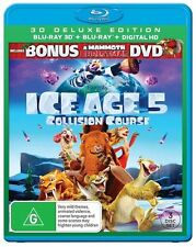 Ice Age 5 - Collision Course 3D (Blu-ray 3D + 2D, 2016, 3-Disc Set) NEW