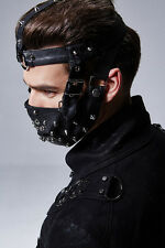 Mad Max Style Black Spike Rivet Full Mouth Mask Punk Gothic Road Warrior Costume