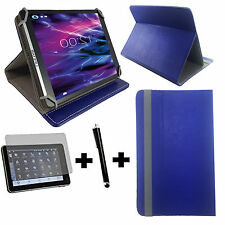 7 zoll Tablet Tasche + Folie + Stift - Huawei Ideos S7 Slim 7 - 3in1 Blau 7