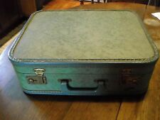 Vintage Vacation blue/green marble suitcase