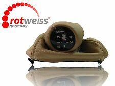 BMW E34 SHIFT KNOB & BOOT, 5 SERIE 5 SPEED MANUAL, BEIGE COLOR ROTWEISS Germany