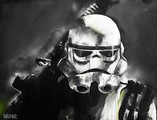 SUPER SIZE A0 POSTER ANDY BAKER STREET storm trooper STAR WARS ART GRAFFITI