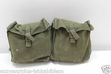British p58 od canvas double ammo or equipment belt pouch price each E2050