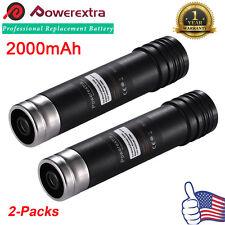 (2 Pack) For Black & Decker Versapak Vp100 Vp105 Vp110 Vp142 Vp143 Battery 3.6V