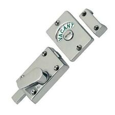 Satin Chrome Indicator Bolt Vacant / Engaged Bathroom Loo Sign Toilet Door Lock